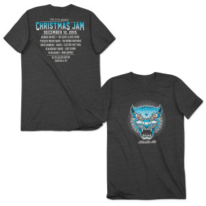 Warren Haynes 2015 Christmas Jam T-Shirt Gray
