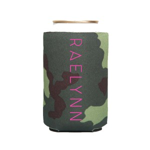RaeLynn Logo Koozie - Green Camo