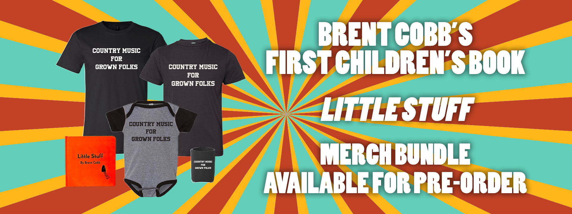 Brent Cobb Little Stuff New Items Children's Book and Clothes
