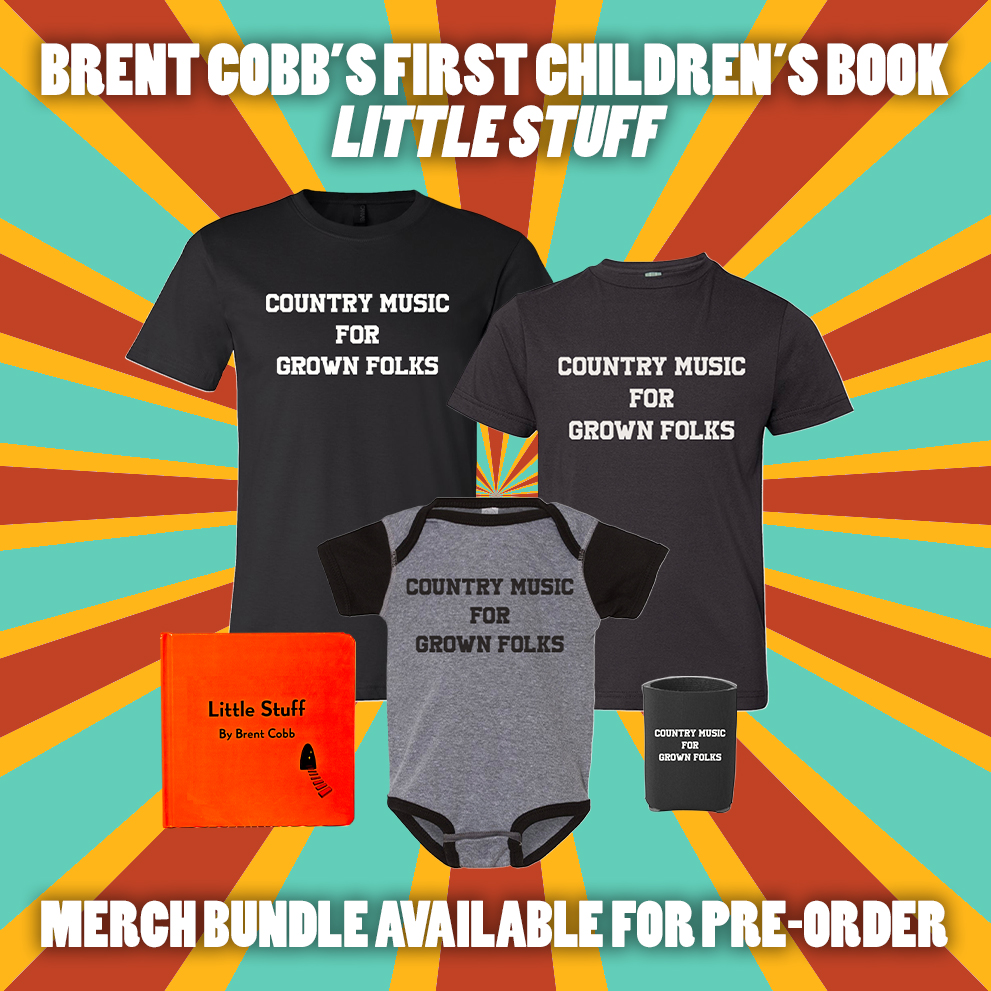 Brent Cobb Little Stuff New Items Childrens Book and Shirts