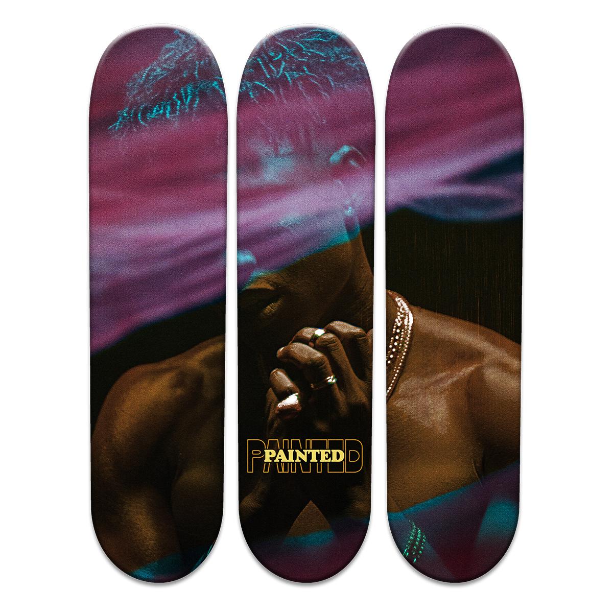 Painted Skateboard Art