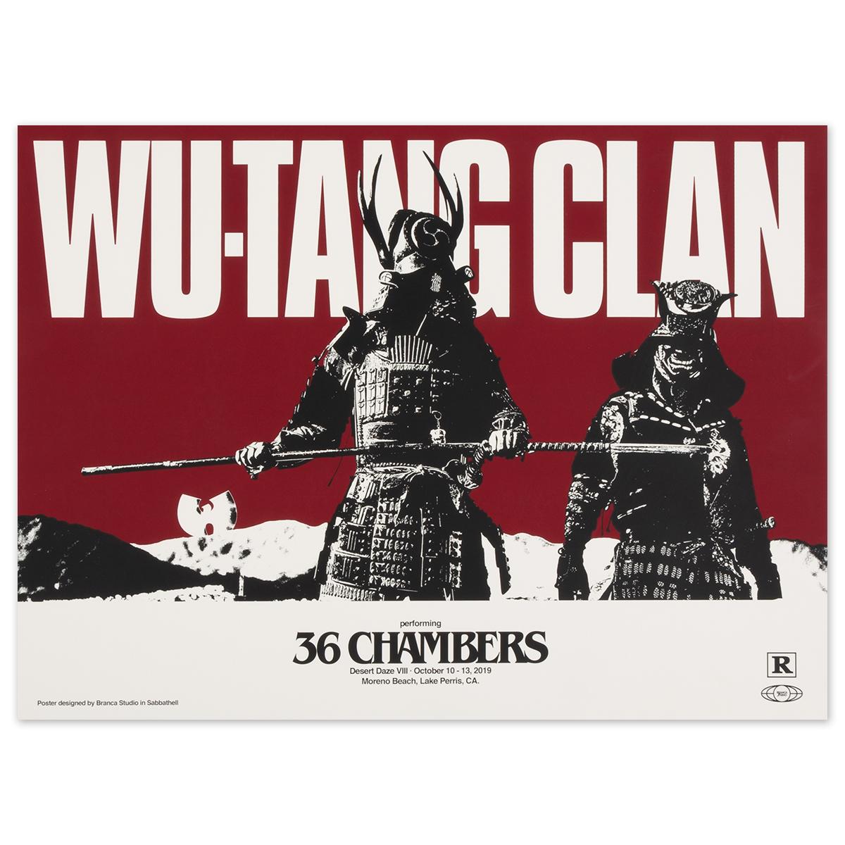 2019 Wu Tang Clan poster by Branca Studios