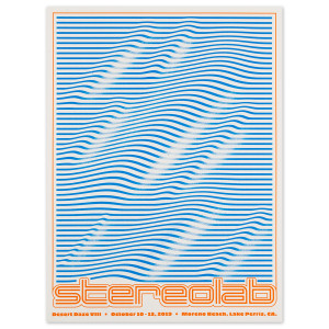 2019 Stereolab poster by Aaron Lowell Denton