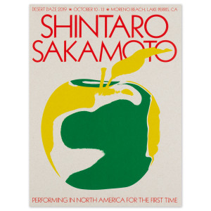 2019 Shintaro Sakomoto poster by Aaron Lowell Denton