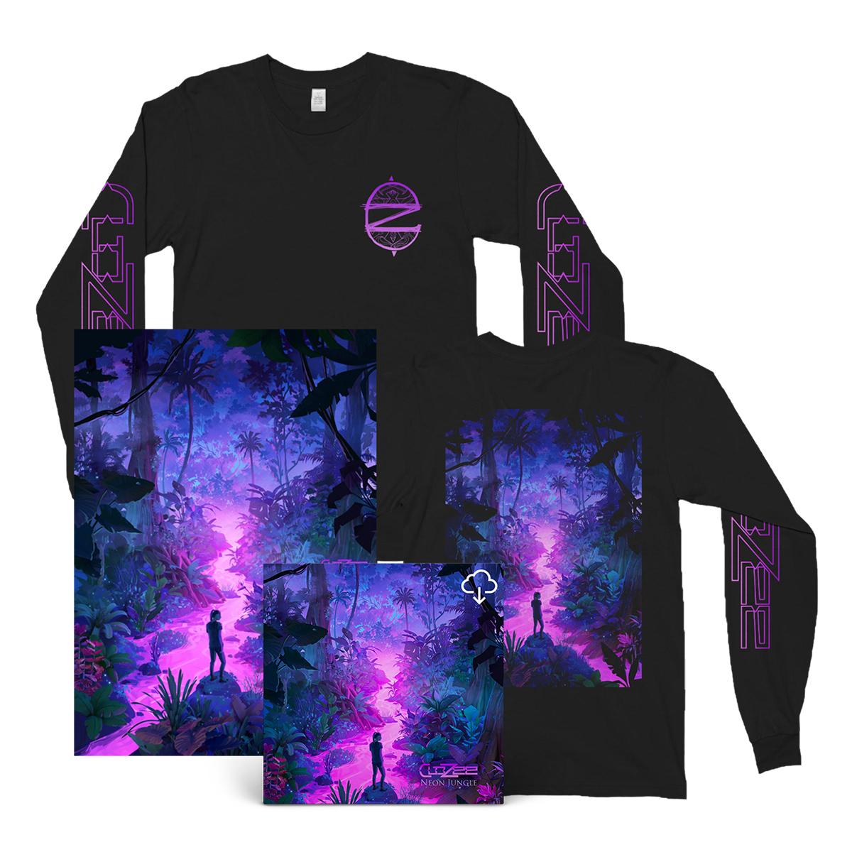 Neon Jungle Download + Long Sleeve Tee + Poster Bundle