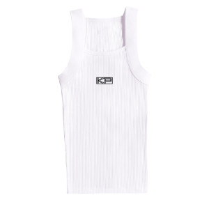 KP White Ribbed Tank