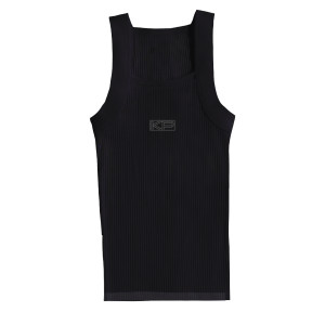 KP Black Ribbed Tank