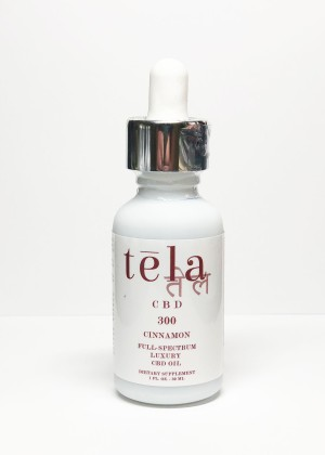 Tela Luxury CBD Oil 300 mg Cinnamon