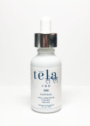 Tela Luxury CBD Oil 300 mg Natural
