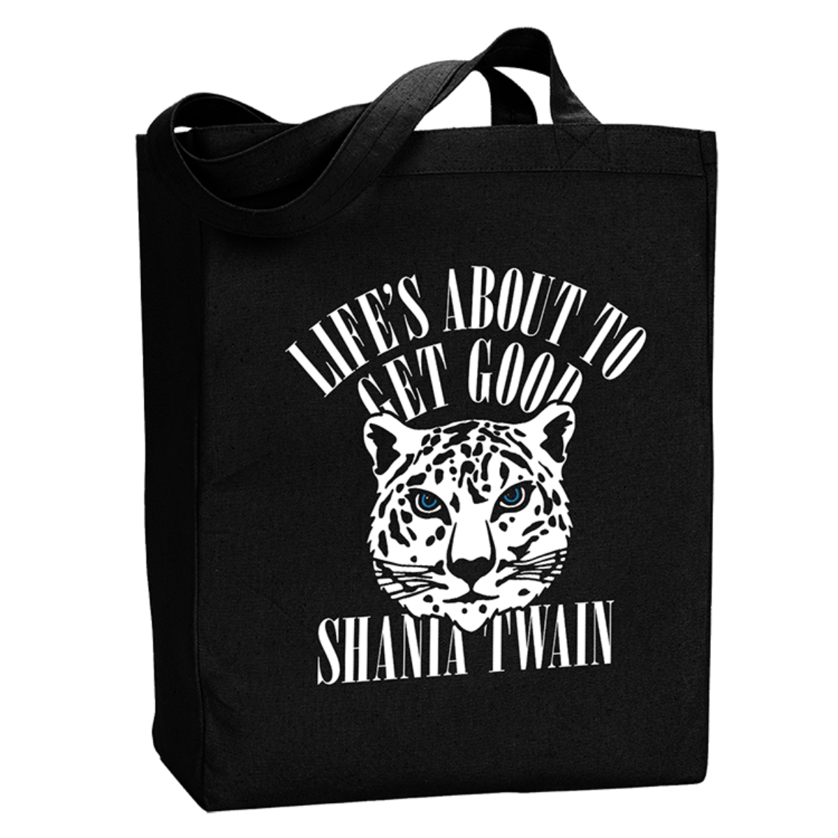 Life's Good Black Tote Bag