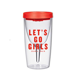 Let's Go Girls Wine Tumbler