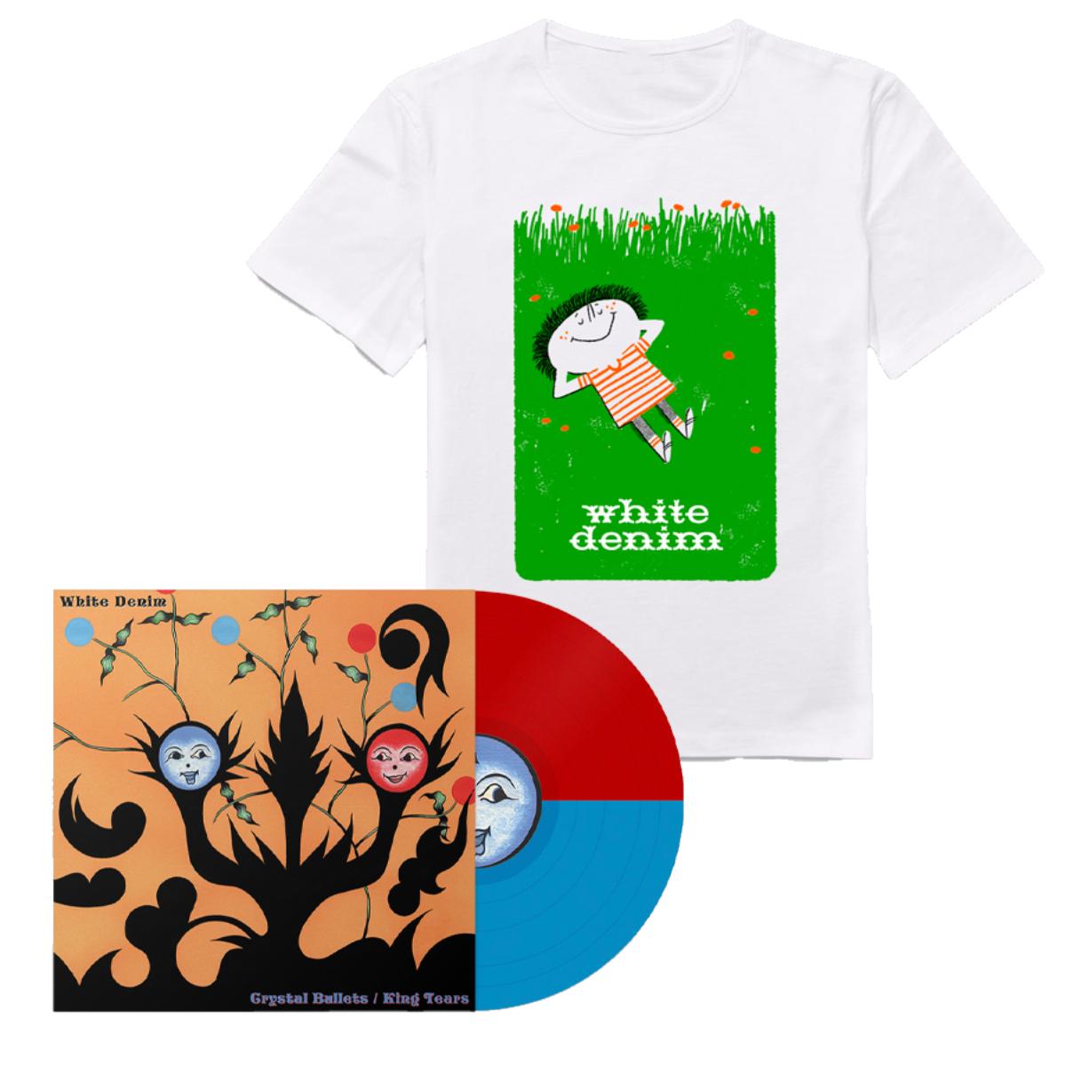 Crystal Bullets B/W King Tears + Grass T-Shirt Bundle