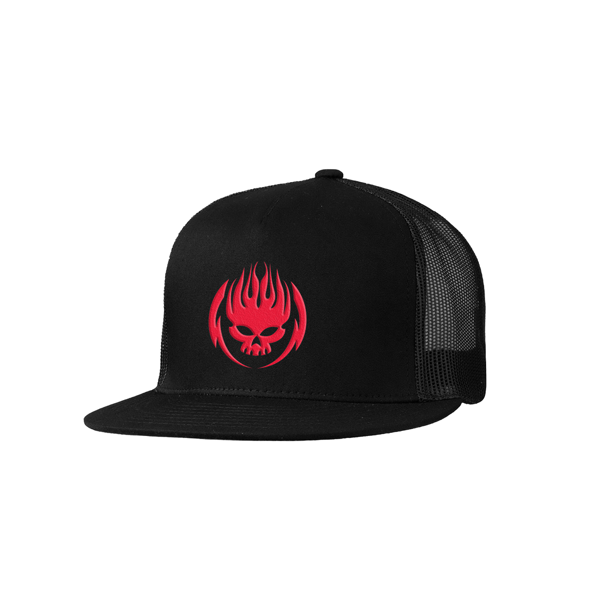 The Offspring Red Logo Black Trucker Hat