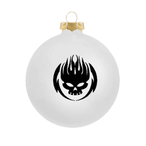 Black on White Ornament