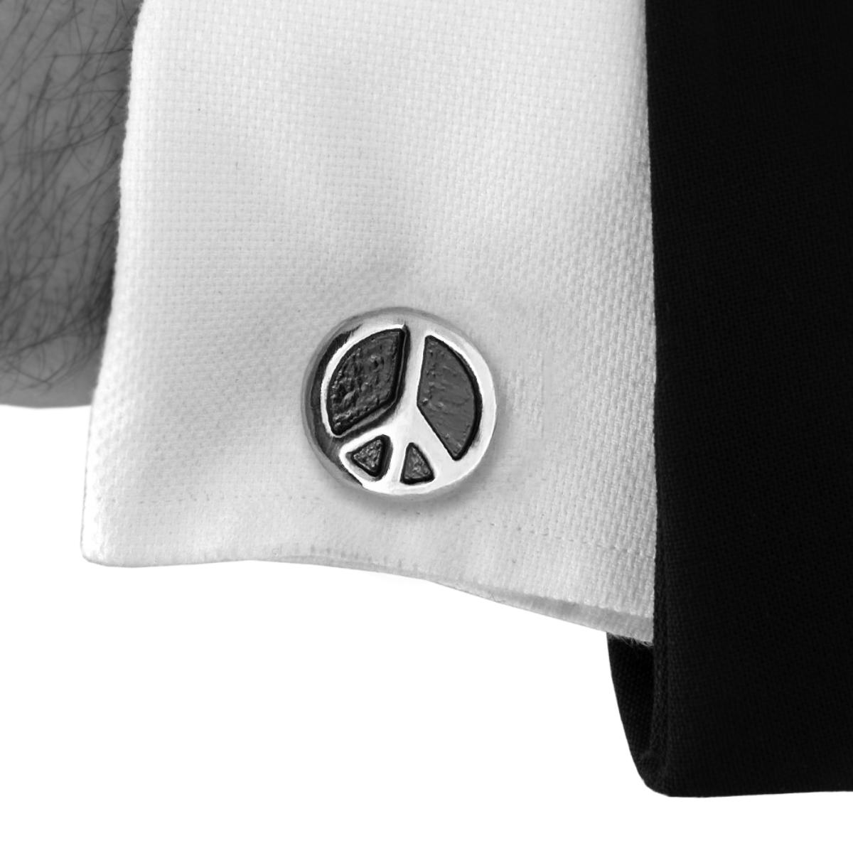 Peace & Love Cufflinks+ Peace Sign Pin