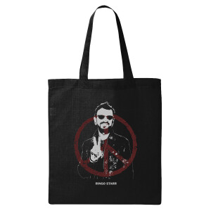 Peace and Ringo Starr Black Tote Bag