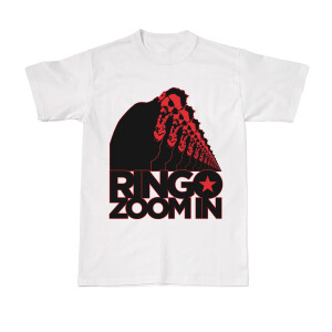 Zoom In by Ringo on Repeat White T-Shirt