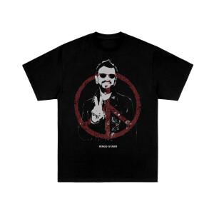 Peace and Ringo Starr Black T-Shirt