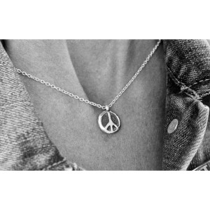 Peace & Love Necklace + Peace Pin