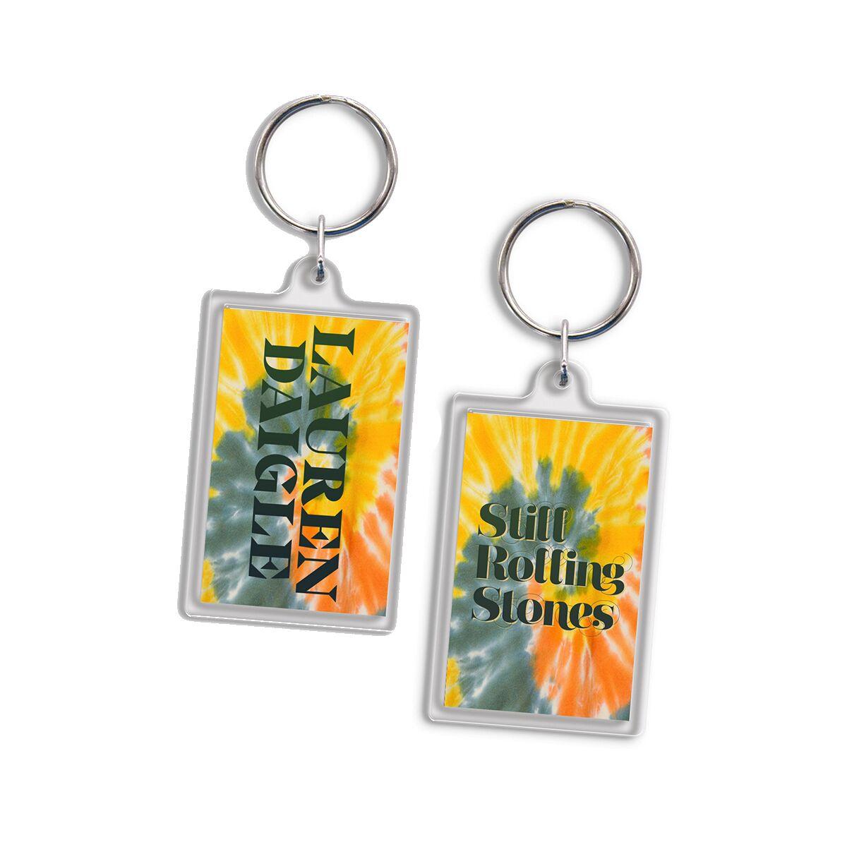 Rolling Stones Tie Dye Keychain