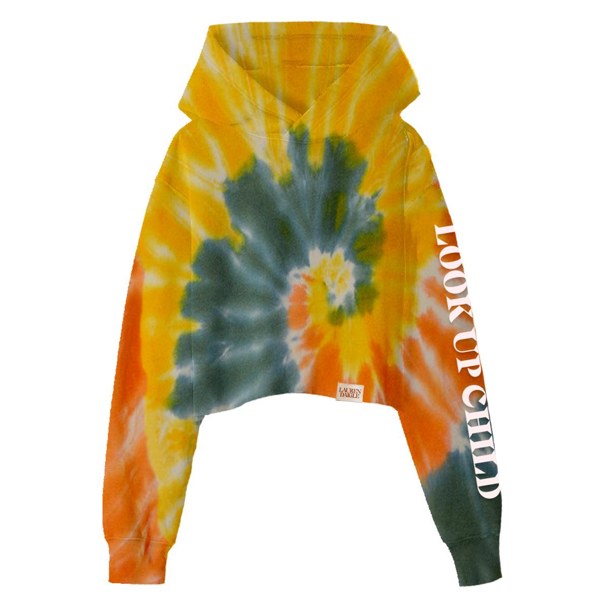 Look Up Child Cropped Tie-Dye Hoodie