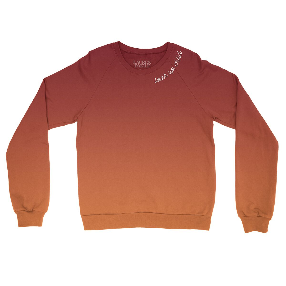 Look Up Child Ombre Crewneck