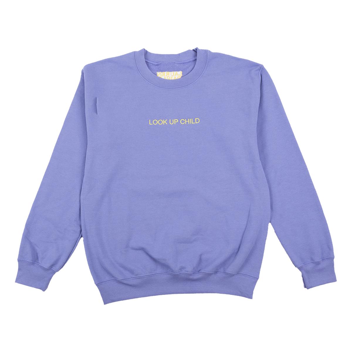 Lavender Look Up Child Crewneck Sweatshirt