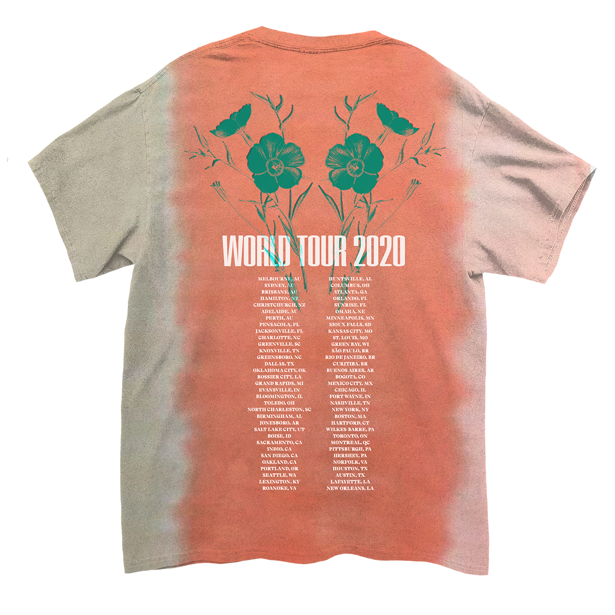 Flower Logo Dateback Tie-Dye T-shirt