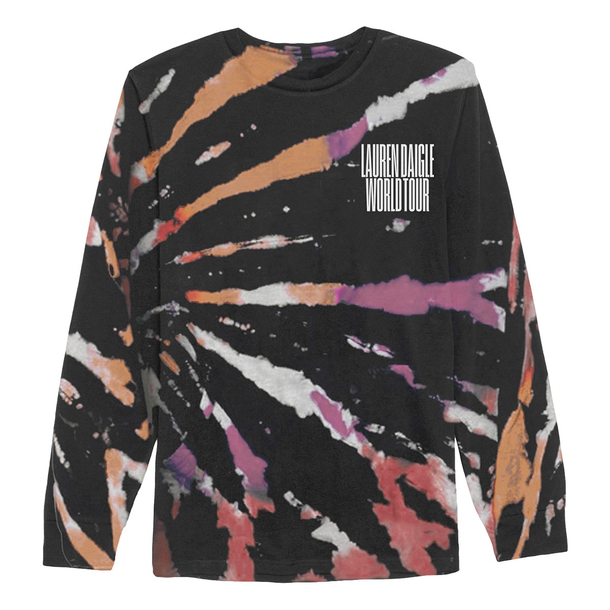 World Tour Black Tie Dye Long Sleeve T-shirt