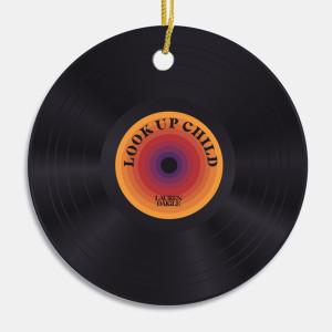 Look Up Child Vinyl Ornament