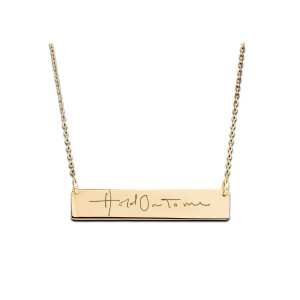 Hold On To Me Gold Bar Necklace