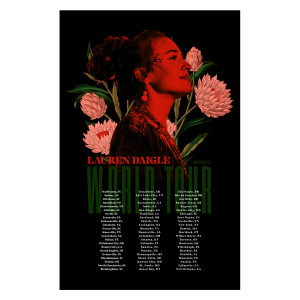 Lauren Daigle World Tour Litho