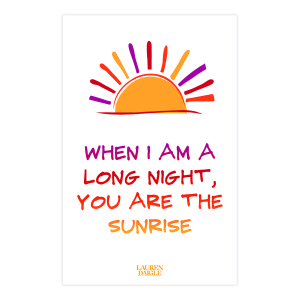 Look Up Child + Long Night Sunrise Lyric Print Set