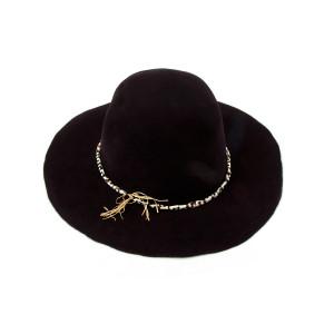 Black Felt Signed Hat
