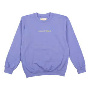 Lavender Look Up Child Crewneck Sweatshirt
