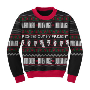 Picking out My Present Christmas Sweater