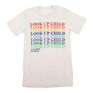 Rainbow Look Up Child Oatmeal T-Shirt