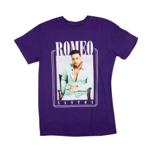 Romeo Santos Photo Purple T-Shirt