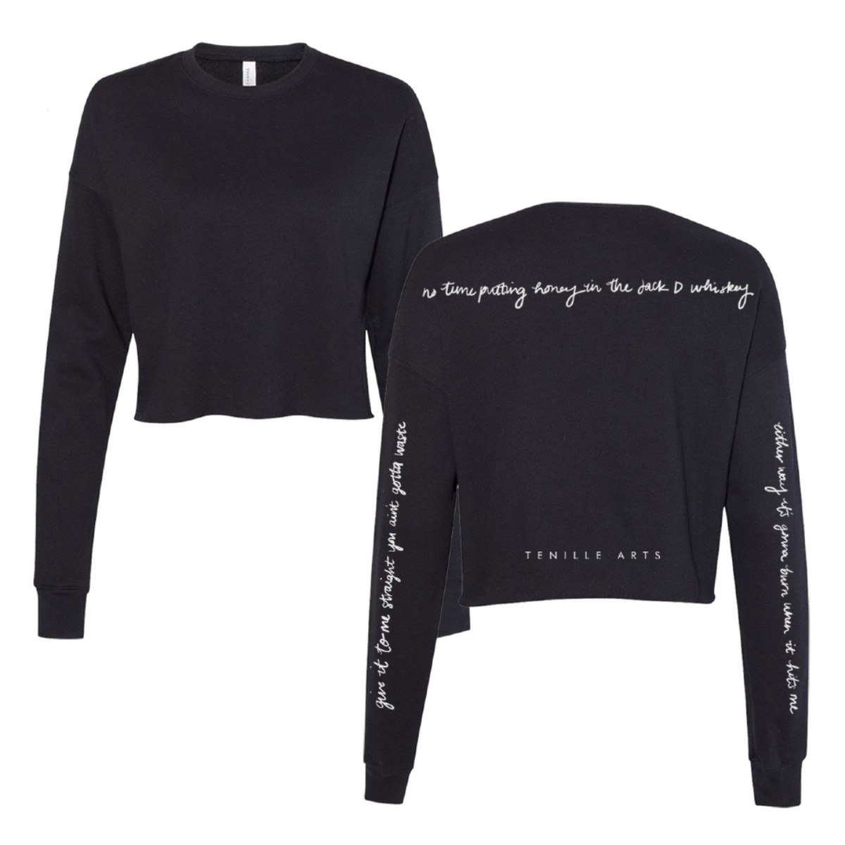 """""""Give It to Me Straight"""" Cropped Fleece"""