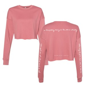 """Give It to Me Straight"" Cropped Fleece"