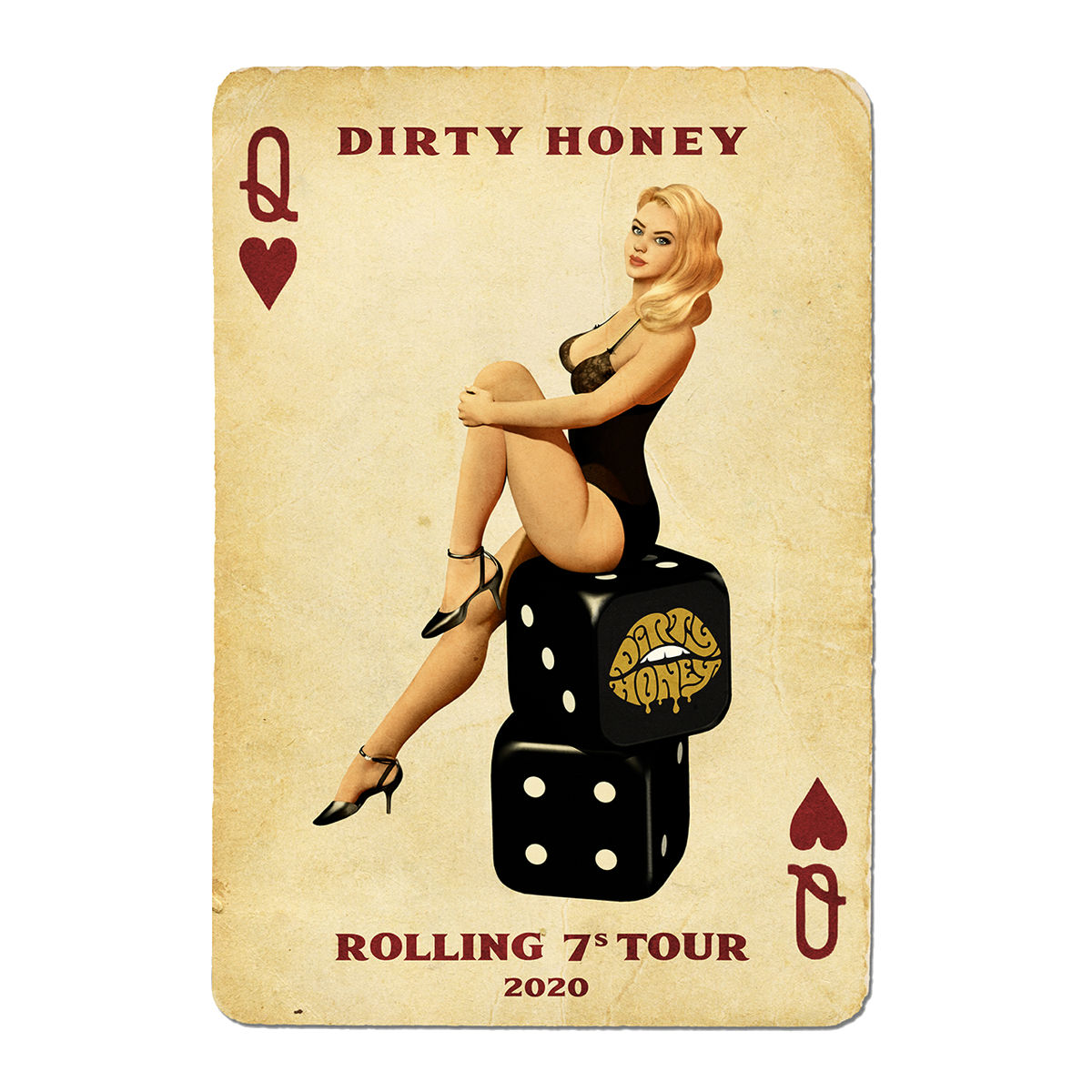 Dirty Honey 2020 Tour Poster
