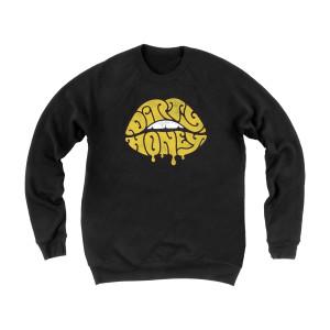 Lips Black Sweatshirt