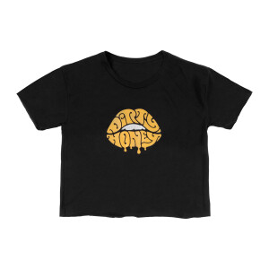Ladies Lips Crop Top Tee