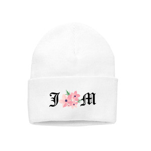 WHITE FLOWER BEANIE