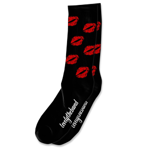 lips socks - black