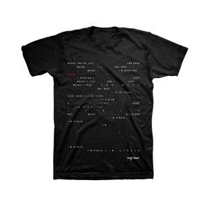 """maybe, im afraid"" lyric t-shirt"