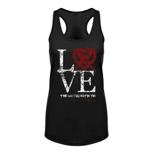 Like a Storm - Ladies Love Black Tank Top