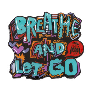 Breathe and Let Go Pin