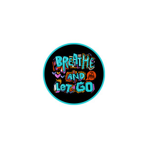Breathe and Let Go Logo Sticker