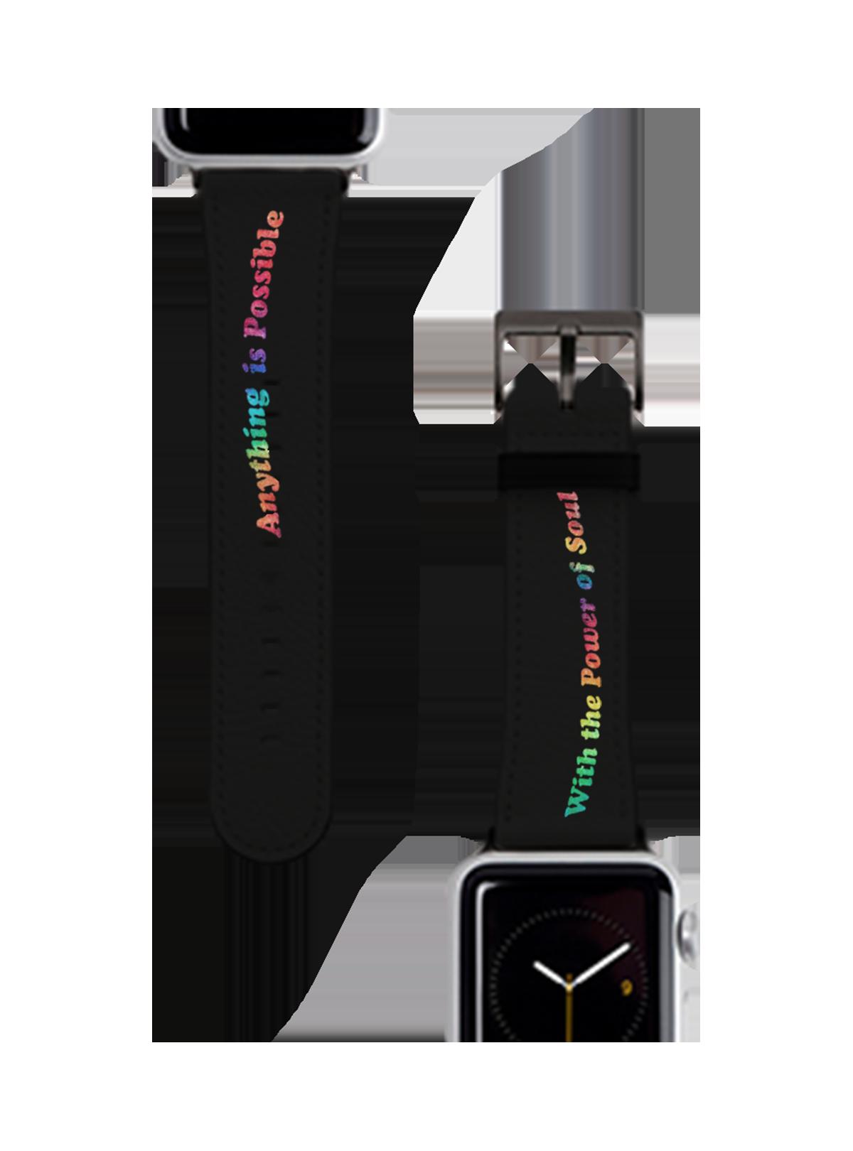 Power of Soul Black Apple Watch Band